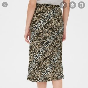 NWT Gap Midi Skirt Animal/Leopard Print Medium